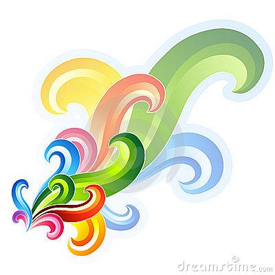 Pin Colorful Swirl Corner Design on Pinterest
